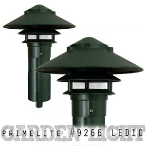 Primelite Mfg - Website, Blog & Social Media Graphic promoting LED Garden Light