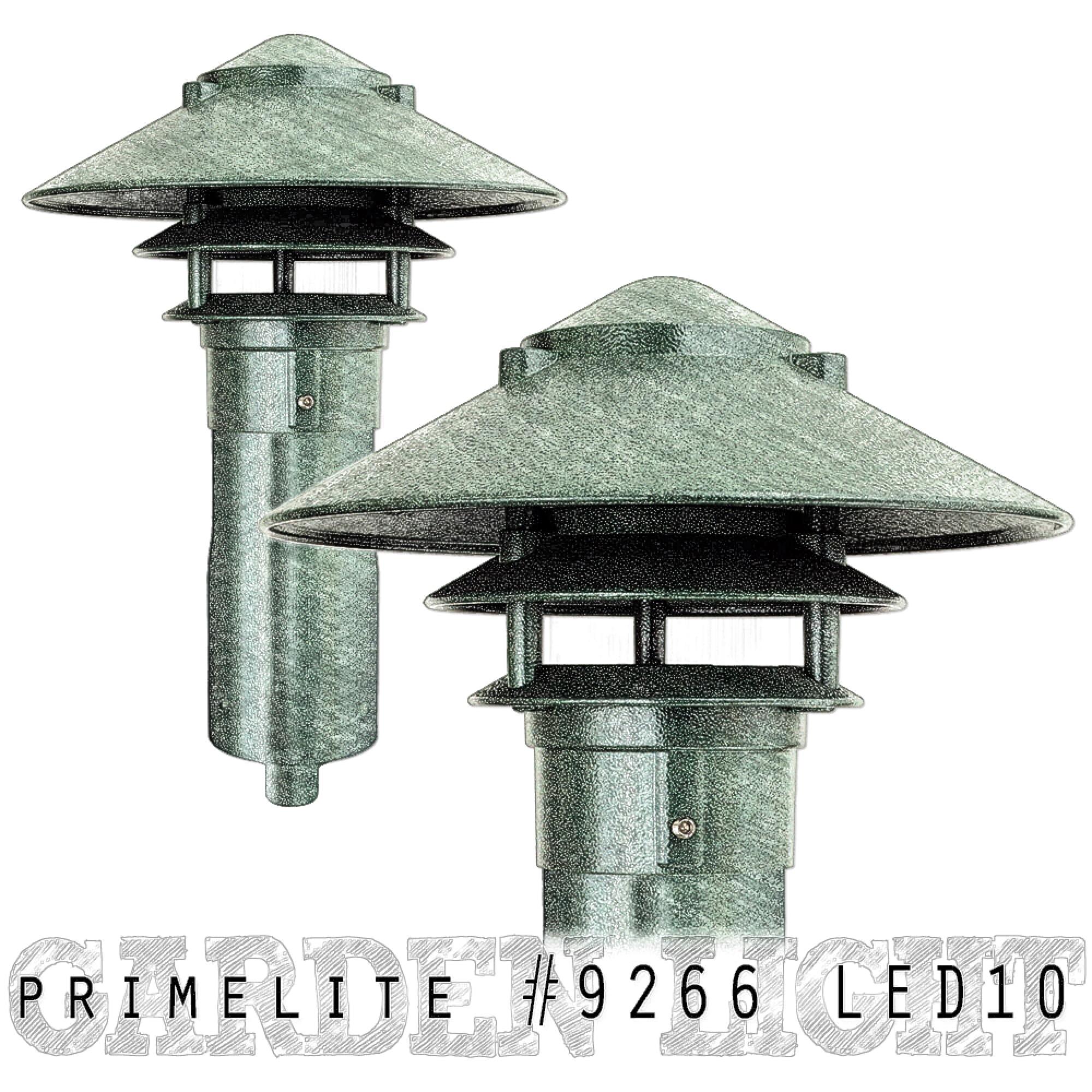 Primelite Mfg - Website, Blog & Social Media Graphic promoting LED Garden Light