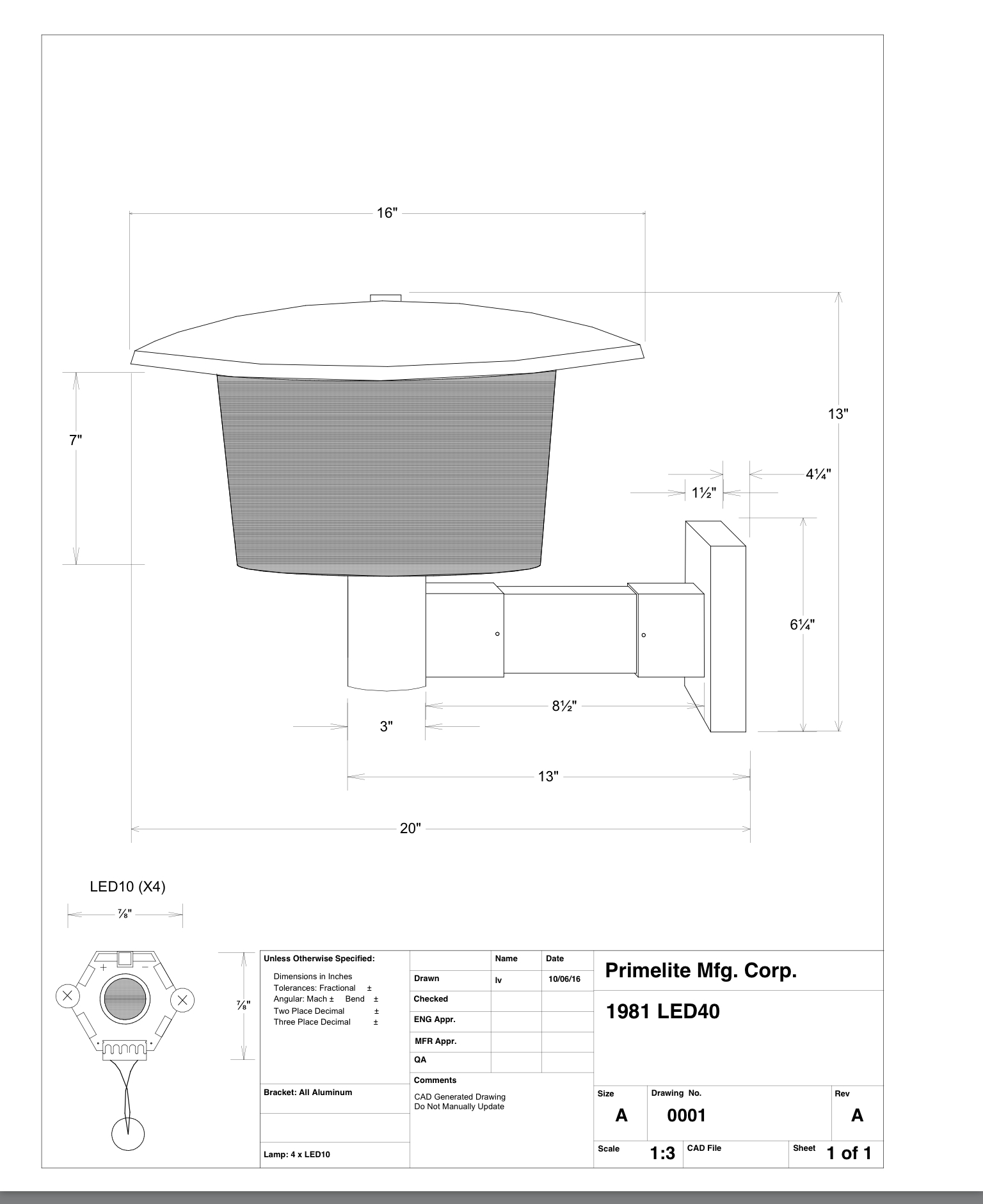 Primelite Mfg - Technical Drawing for website & customers