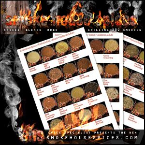 Smokehouse Spices -Website, Blog & Social Media Graphic promoting Updated website