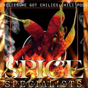 Spice Specialist- Website, Blog & Social Media Graphic promoting chilies