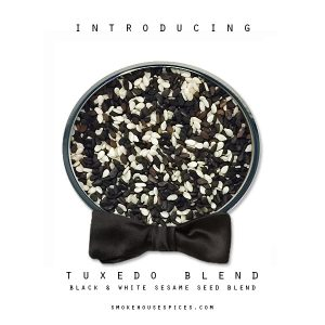 Spice Specialist -Website, Blog & Social Media Graphic promoting spice Tuxedo Blend