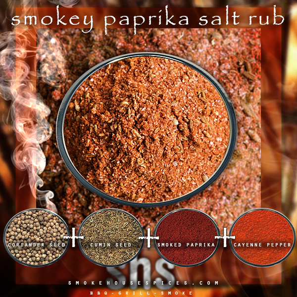 Smokehouse Spices - Website, Blog, Recipe & Social Media graphic promoting spice