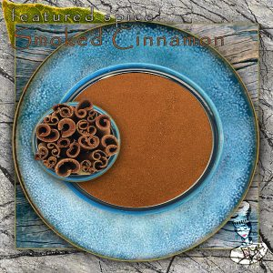 Chef Cherie - Website, Blog & Social Media Graphic promoting spice Smoked Cinnamon