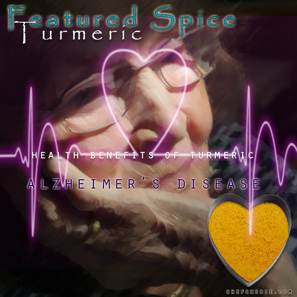 Chef Cherie - Website, Blog & Social Media Graphic promoting the health benefits of spice Turmeric