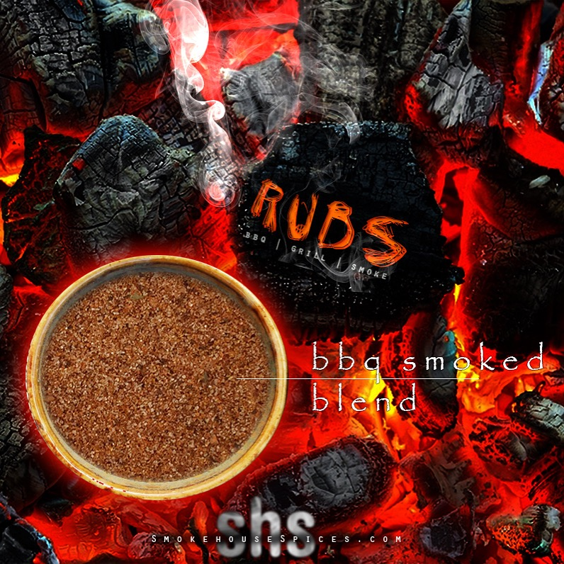 Smokehouse Spices - Website, Blog & Social Media graphic promoting BBQ Spice Rubs