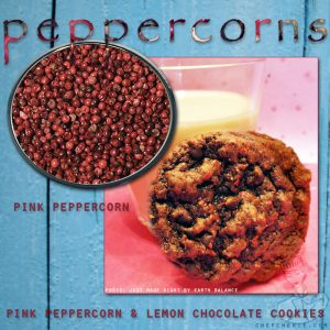 Chef Cherie - Website, Blog & Social Media Graphic promoting Peppercorn spice recipes