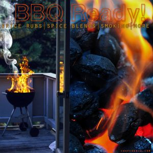 Chef Cherie - Website, Blog & Social Media Graphic promoting BBQ spices