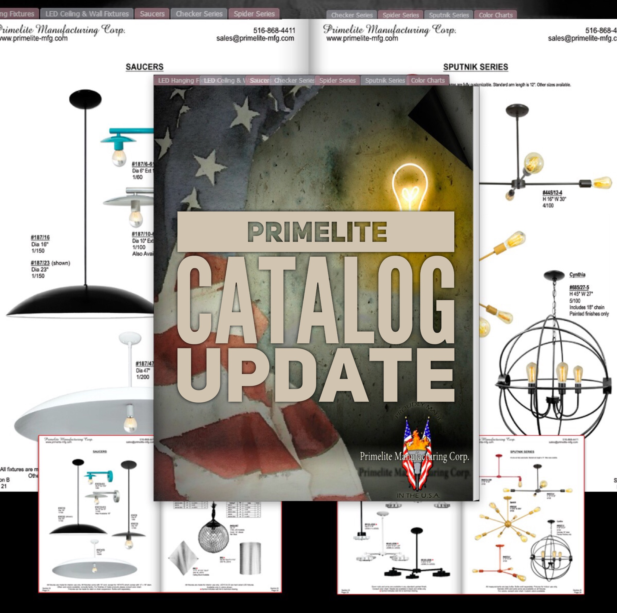 Primelite Mfg - Graphic promoting online catalog update