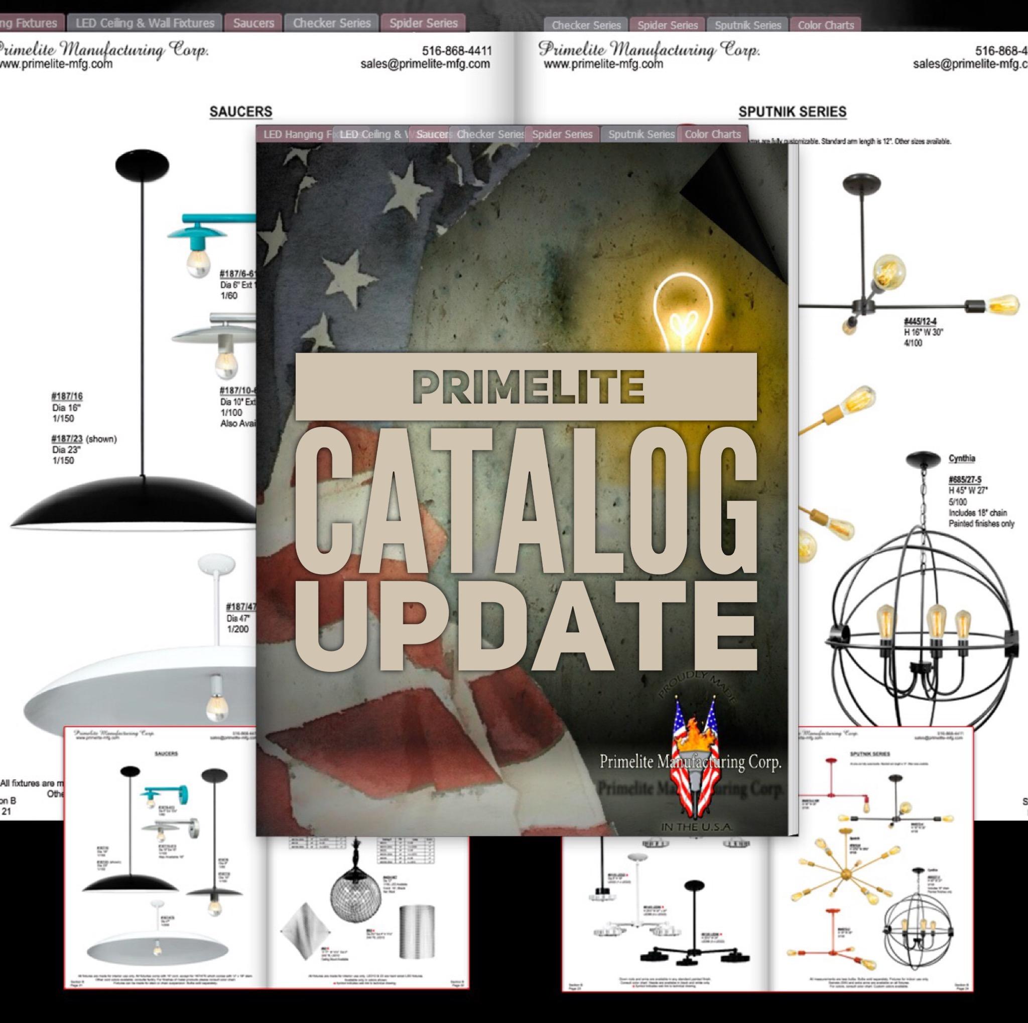 Primelite Mfg - Graphic promoting online catalog update