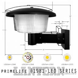 Primelite Mfg - Website, Blog & Social Media Graphic promoting LED Light