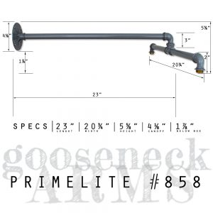 Primelite Mfg - Promotional Graphic for light figure arm