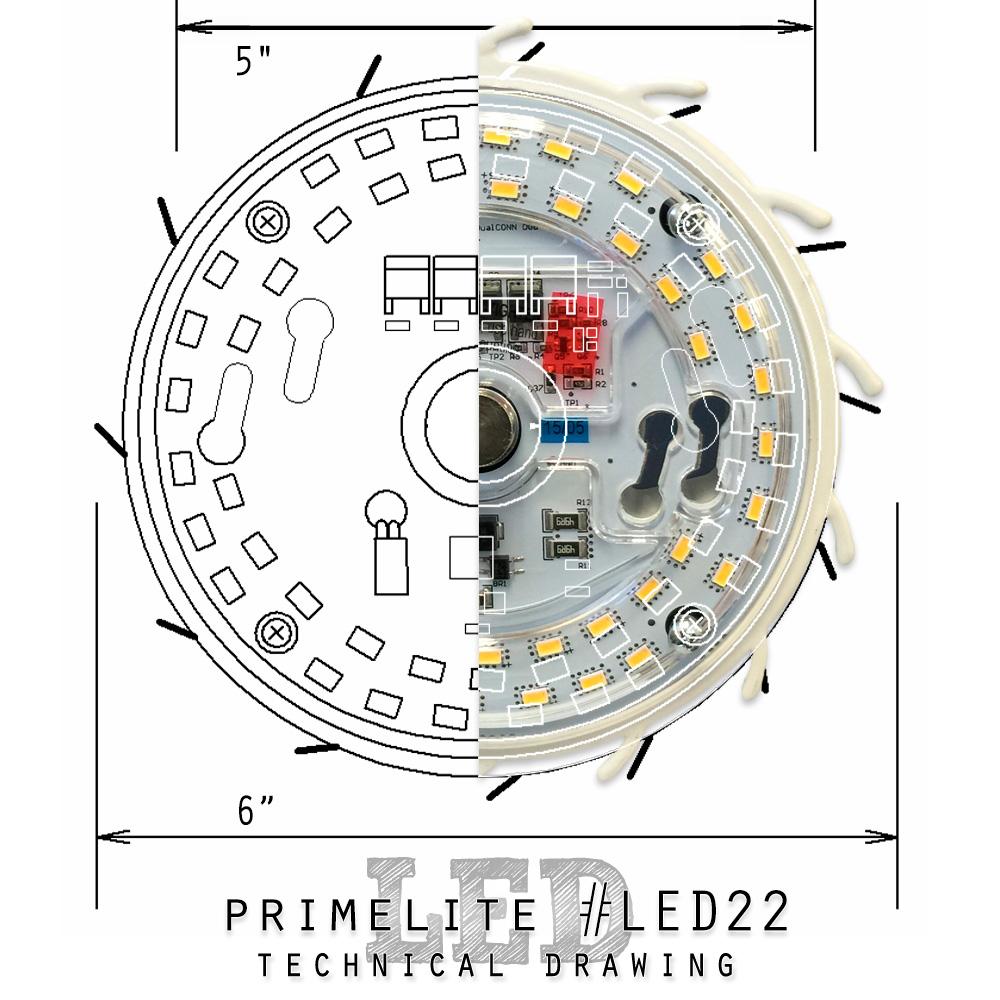 Primelite Mfg - Graphic promoting LED22 array