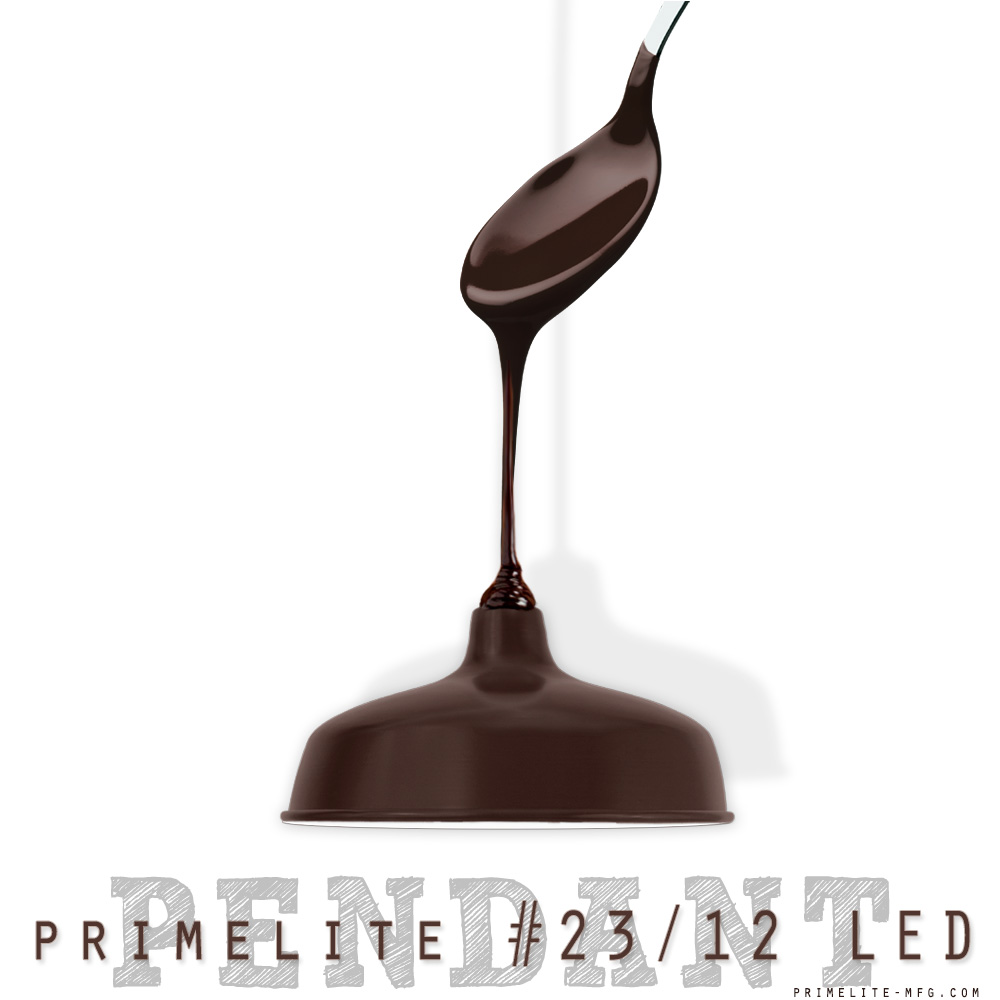 Primelite Mfg - Promotional Graphic promoting chocolate Brown pendant light